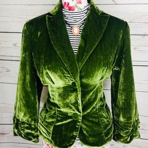 Vintage Bandolina 12 green velvet blazer